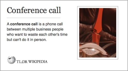conf call